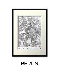 Berlin Map City Art Posters