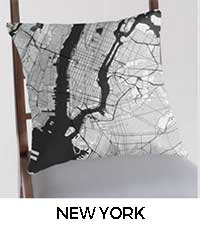 New York Map City Art Posters