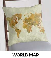 World Map Map City Art Posters