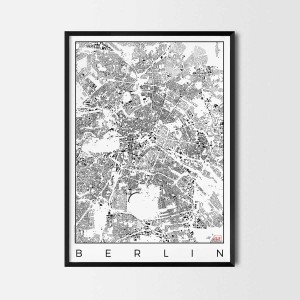 Berlin schwarzplan Urban plan city map art