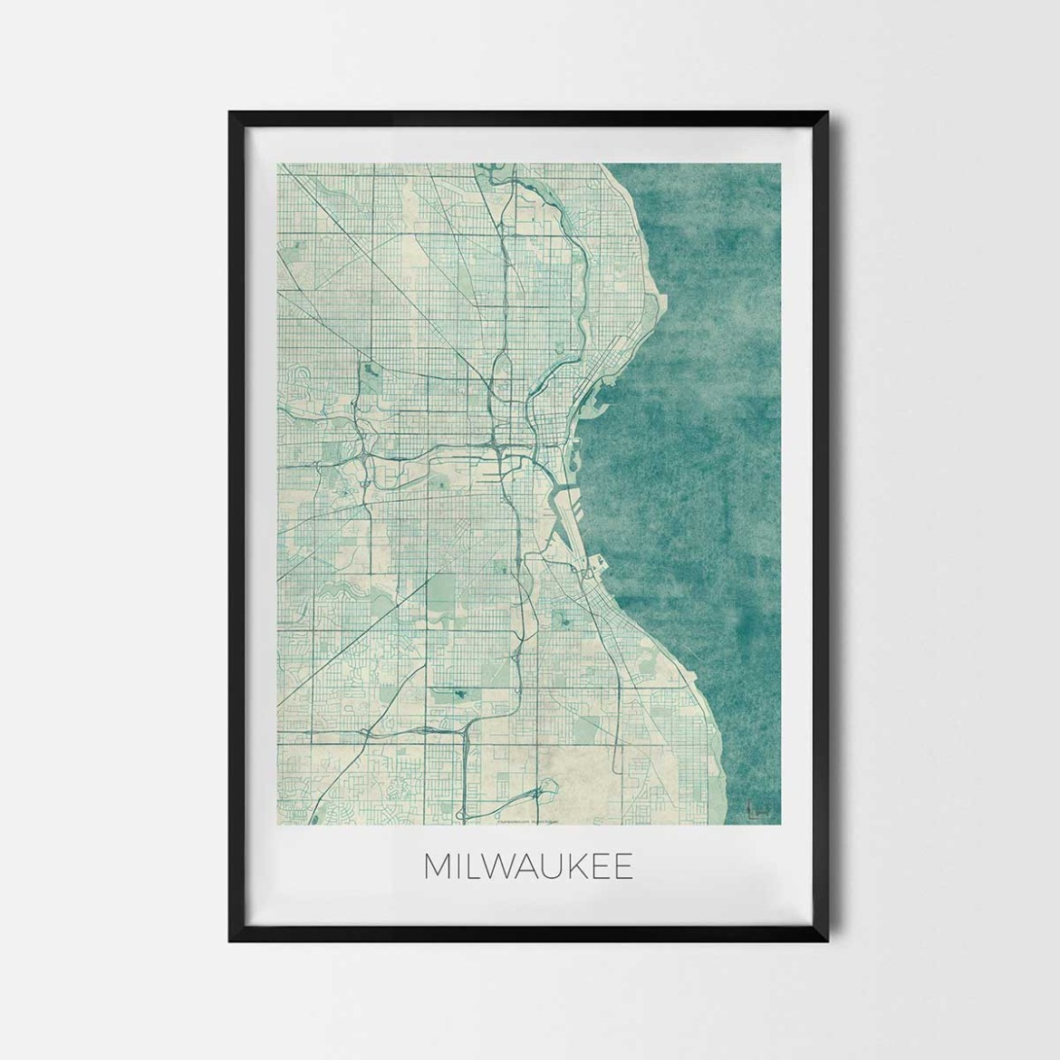 Milwaukee gift map art prints and posters home decor gifts House map drawing images
