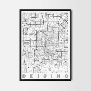 beijing art prints city map
