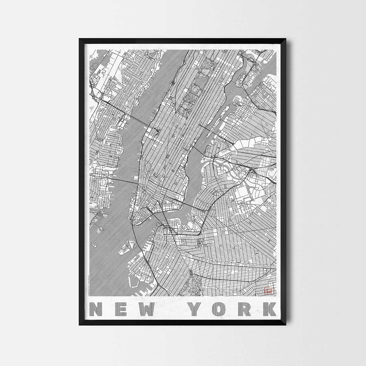 City Art Posters Map Posters And Art Prints Gifts For City - Nyc map art