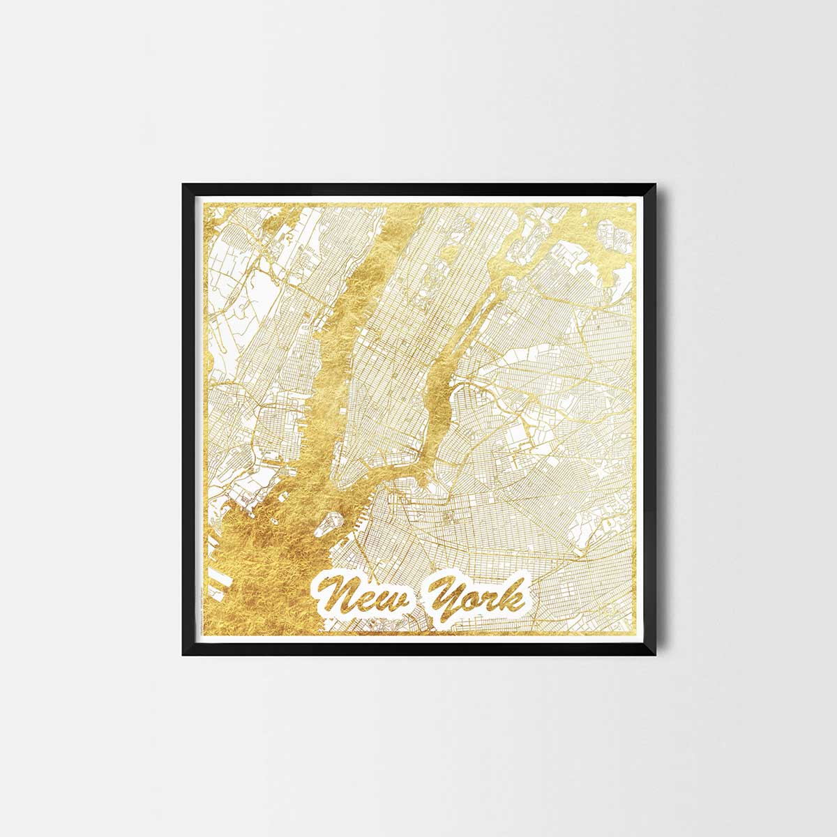 City Art Posters New York Map Of