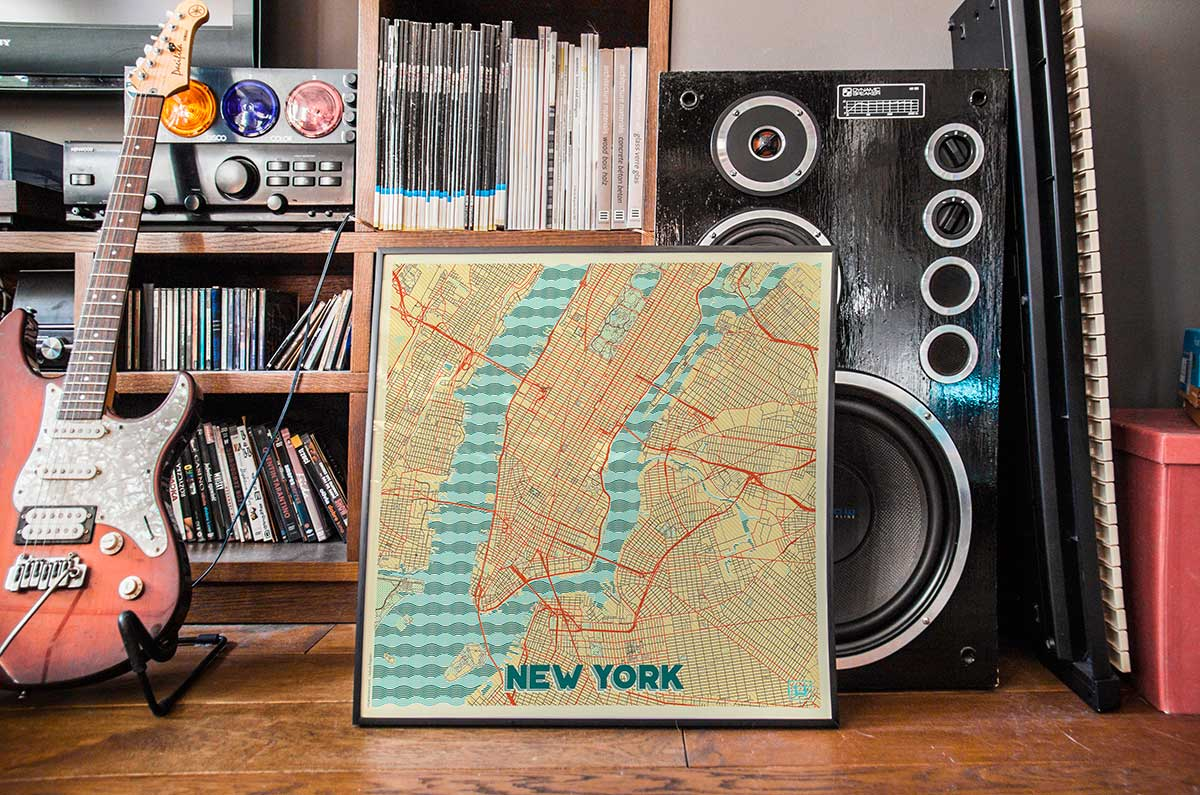 New York Map Prints