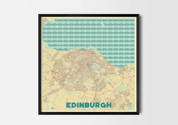 Europe City Map Posters  Art Prints and Map Gifts