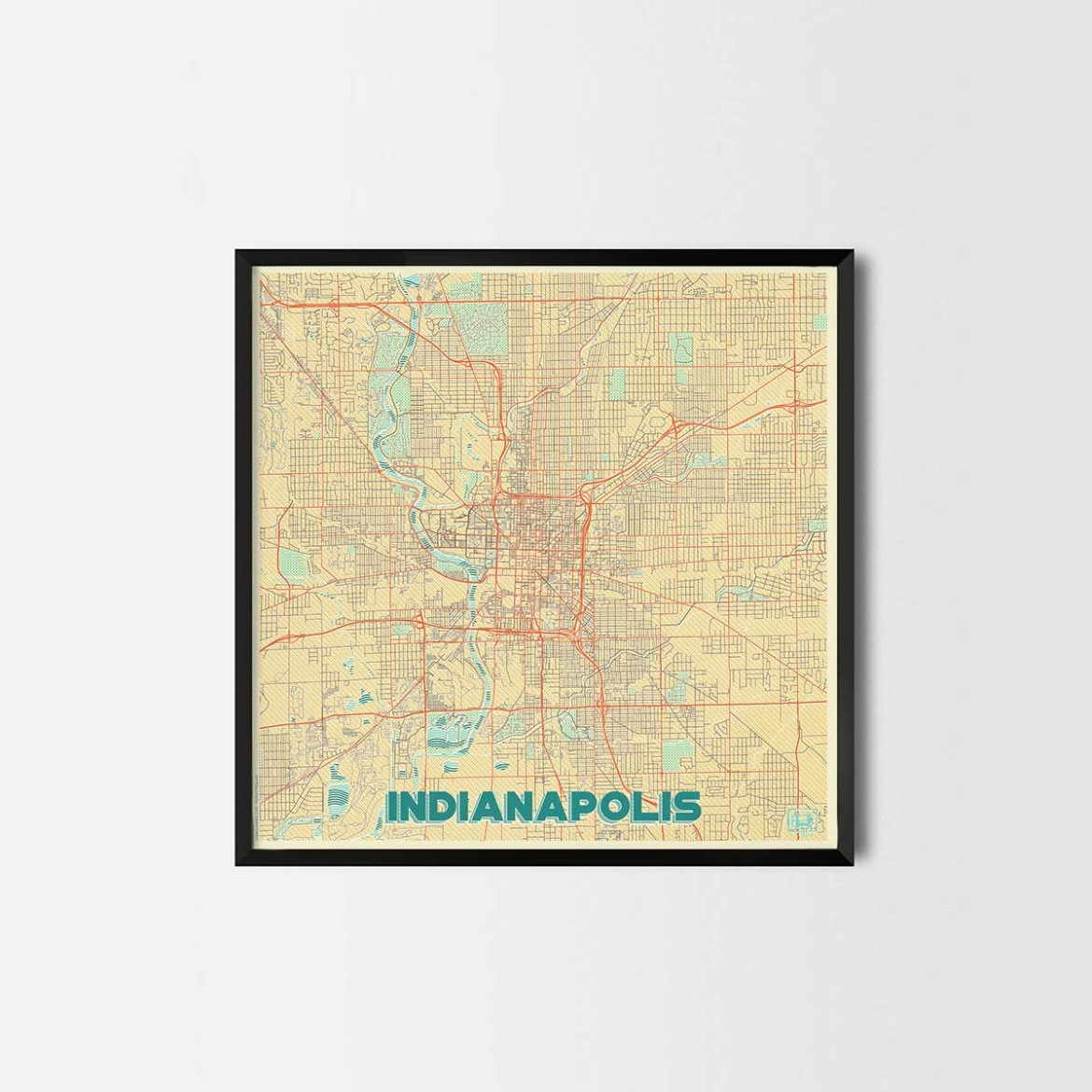 Indianapolis gift - Map Art Prints and Posters, Home Decor Gifts