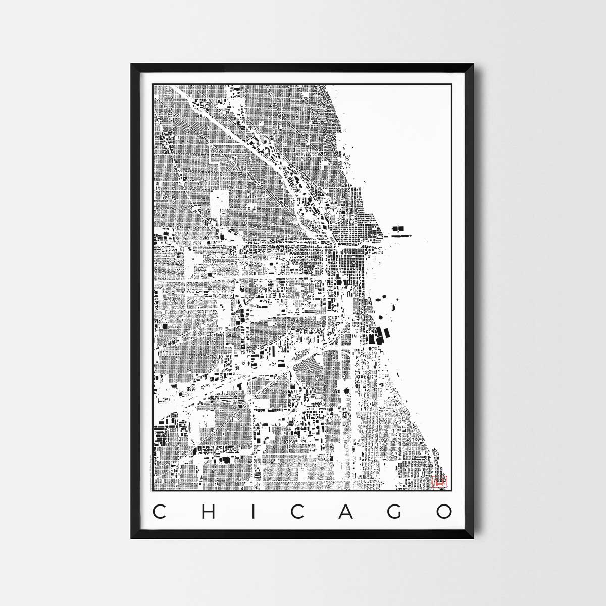 Chicago Map Poster - City Art Posters and Map Prints on