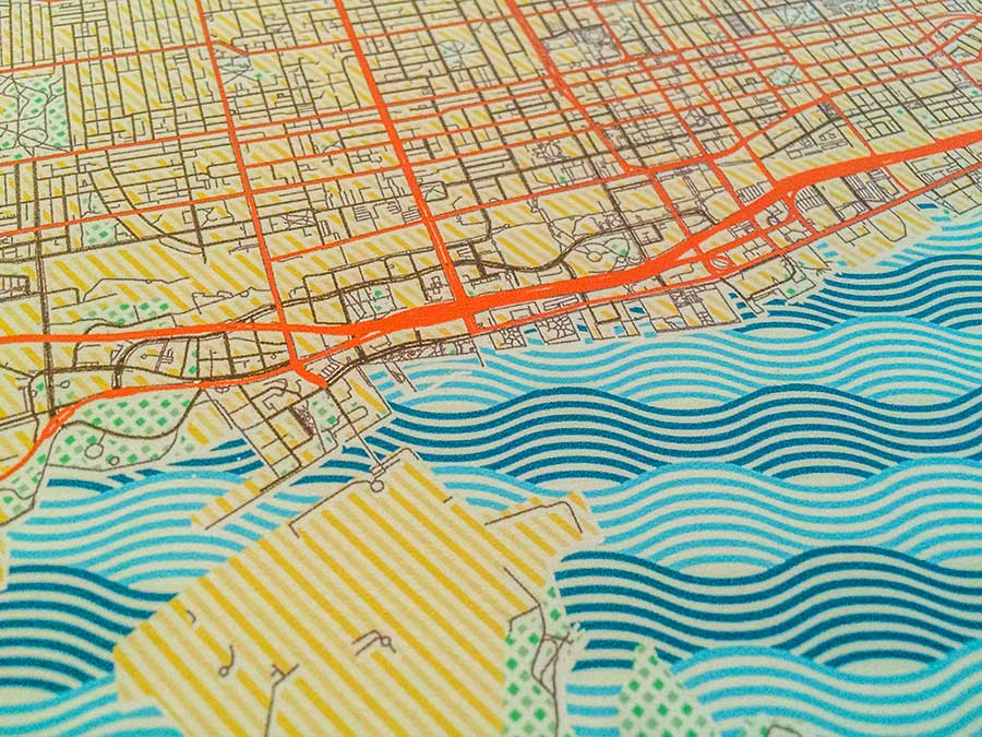 Toronto retro posters artprints city map design