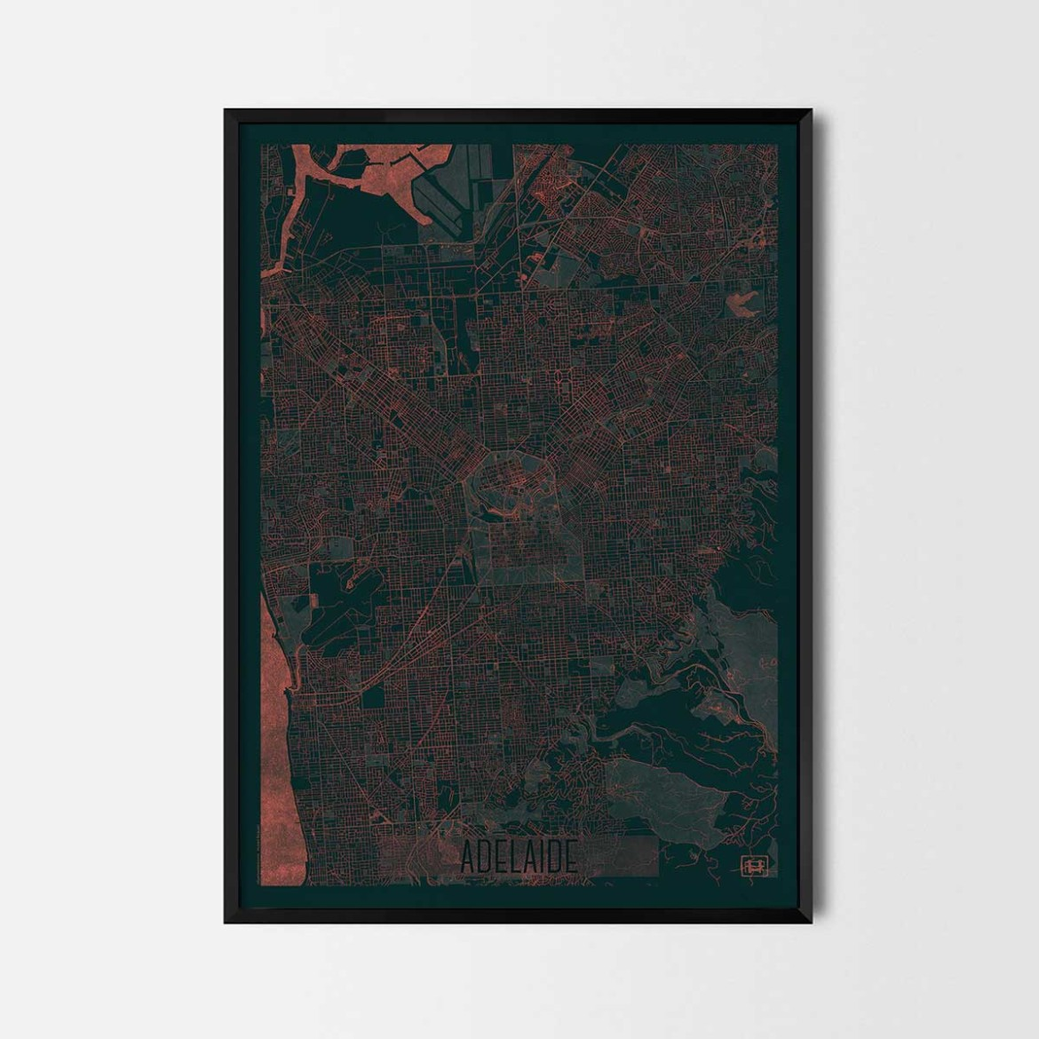 Adelaide gift map art prints and posters home decor gifts for Home decorations adelaide