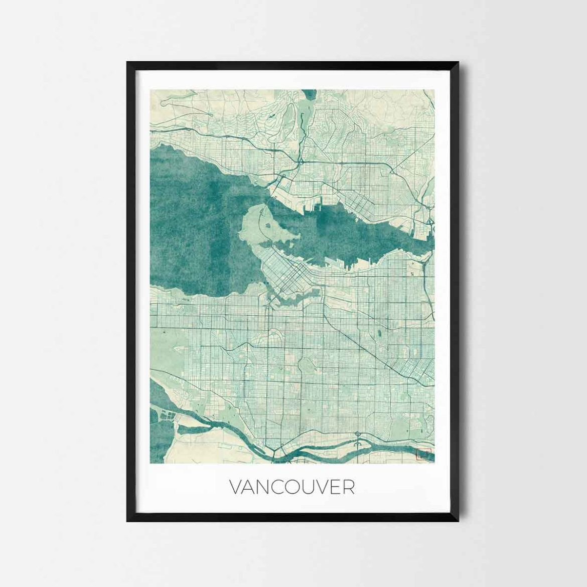 vancouver gift map art prints and posters home decor gifts