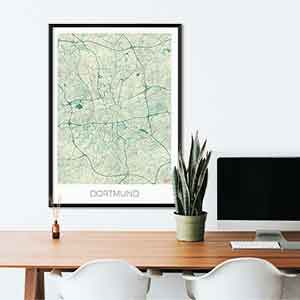 Dortmund gift map art gifts posters cool prints neighborhood gift ideas