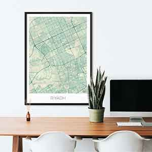 Riyadh gift map art gifts posters cool prints neighborhood gift ideas