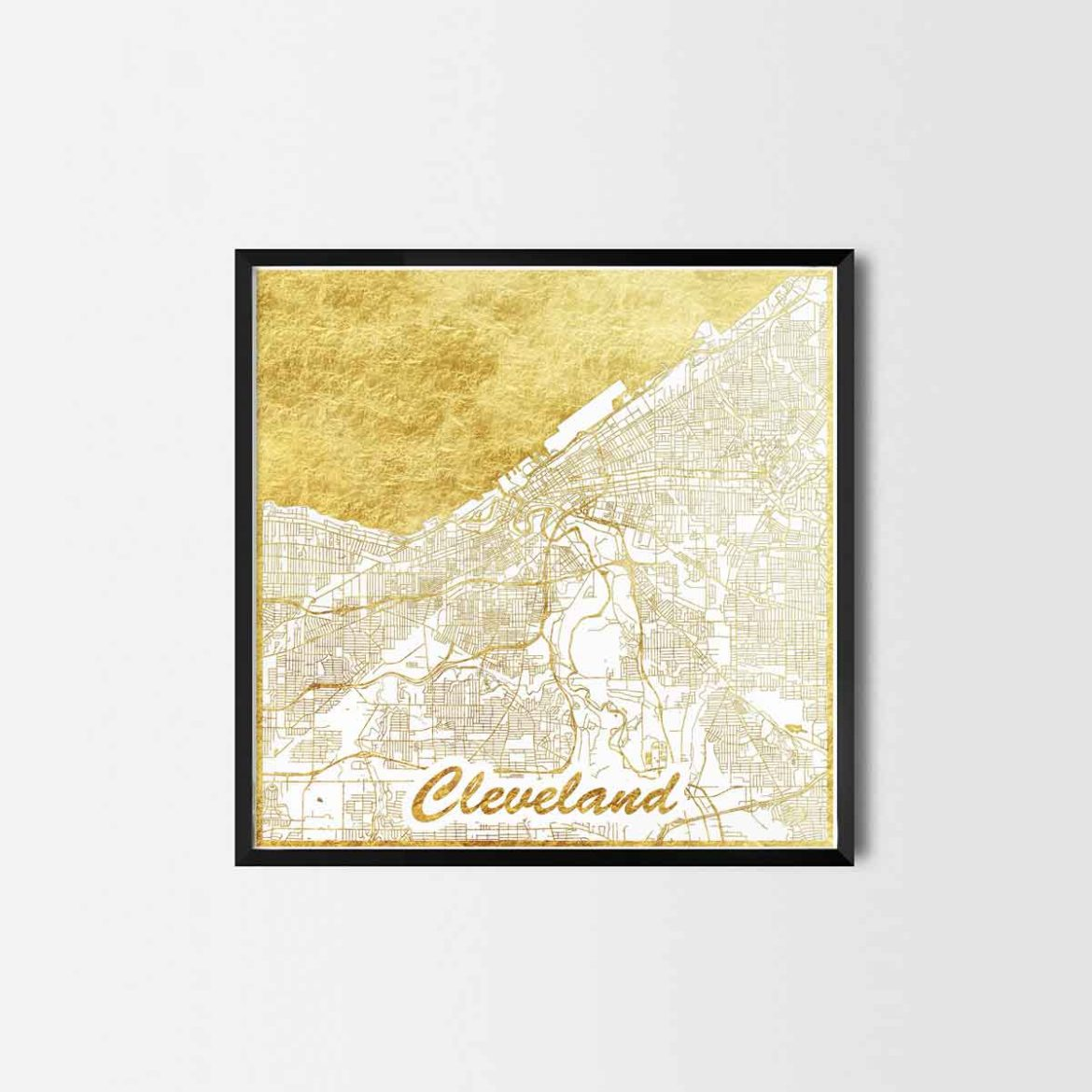 Cleveland gift - Map Art Prints and Posters, Home Decor Gifts