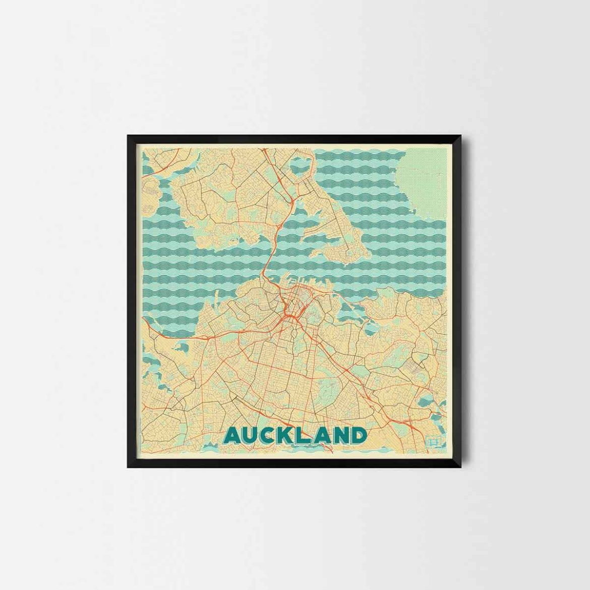 Auckland gift - Map Art Prints and Posters, Home Decor Gifts