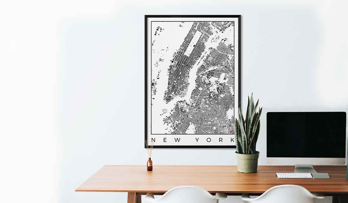 Wall Art Posters city art posters | map posters and art prints - gifts for city